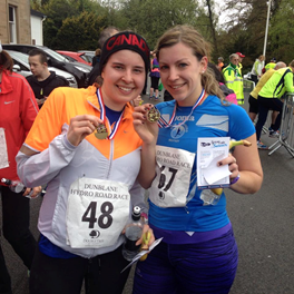 All smiles after 7.5 miles in Dunblane!